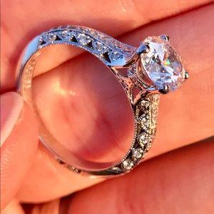 Tacori Classic Crescent 18kt White Gold Diamond